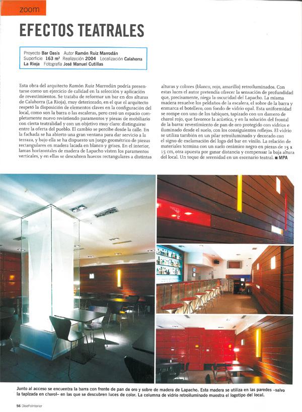 Diseño interior 144. Bar Oasis